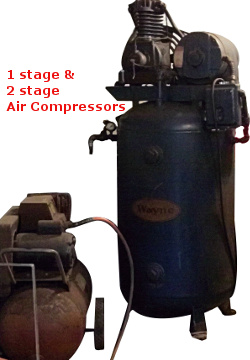 1 stage & 2 stage air compressors