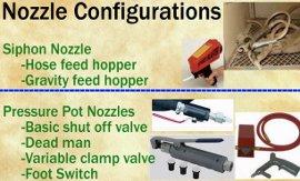 Nozzle configurations.