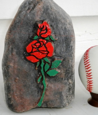 A rose stone carving example provided by Glen Morris.