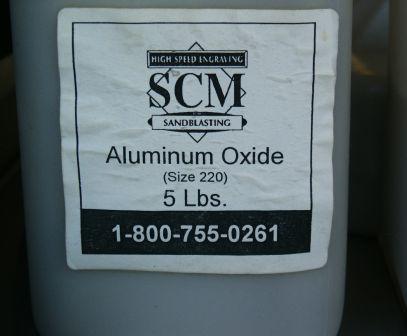 220 aluminum oxide sandblasting abrasive grit.