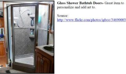 Shower glass that can be etched.