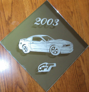 GT Mustang Etched