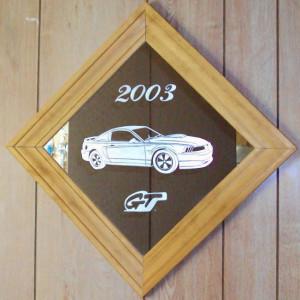 GT Mustang etched framed