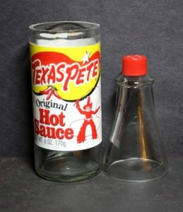 a cut glass bottle