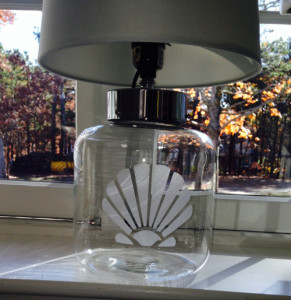 etched lamp