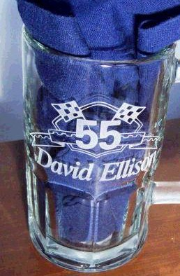 Etched and personalized beer mug.