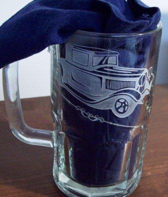 Custom beer glass.