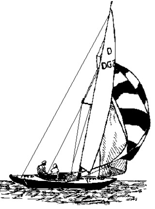 Sailboat pattern.