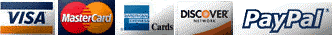 Secure payment by paypal and these credit cards.