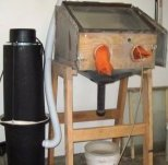 Sandblasting Cabinet Plans – Shows plans on how I made my own