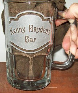 Custom etched glass barware