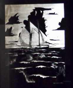 1973 Through the Reef engraving, James Bruce