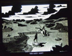 1974 The Last Hunt engraving, James Bruce