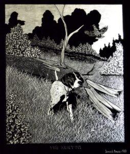 1982 The Hunter engraving, James Bruce