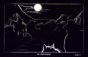 1984 The NightHawks engraving, James Bruce