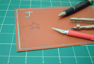 Cut-Your-Own Blank Reusable Glass Etching Stencil Sheet