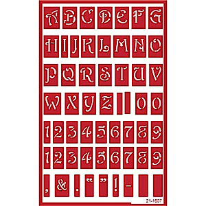 Uppercase (Capital) Alphabet Letters & Number Glass Etching Stencils