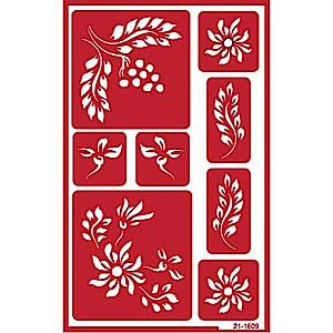 Berry & Flower Glass Etching Stencil Designs