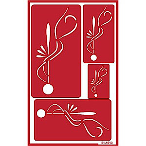 Deco Glass Etching Stencils Designs