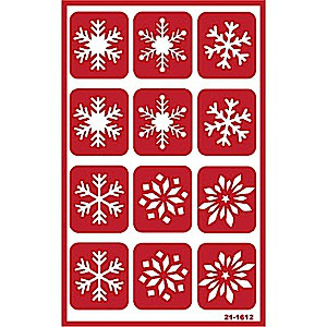 Snowflake Glass Etching Stencils