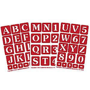 Large Alphabet Letter & Number Glass Etching Stencils (1 inch tall)