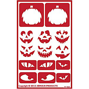 Halloween Jack-o-Lantern Glass Etching Stencils: Build a Scary Face