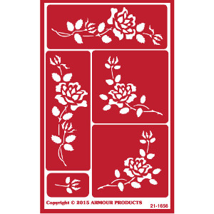 Rose Glass Etching Stencils