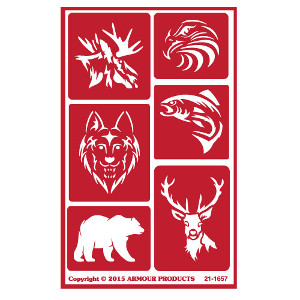 Wild Animal Glass Etching Stencils