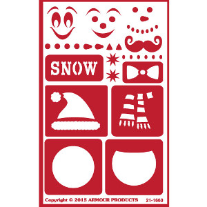 Winter & Build a Snowman Glass Etching Stencils