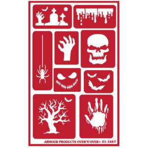 Halloween Reusable Glass Etching Stencils.