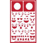 Smiley EMoji face stencils.