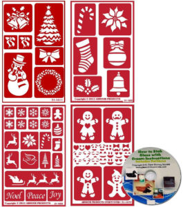 4 pack christmas stencils