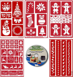 5 pack christmas stencils