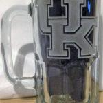 University of Kentucky etched mug logo.