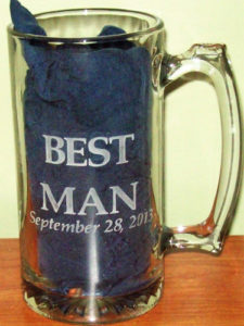 best man mug etched