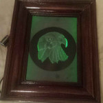 Carved glass frame of eagle
