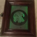Carved glass frame of eagle