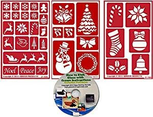 christmas stencil 3 pack