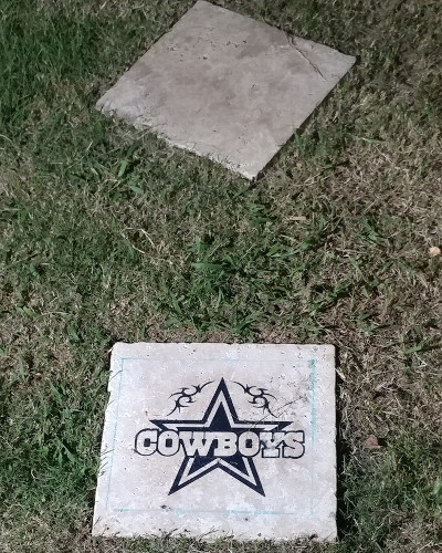 dallas cowboys stone engraving
