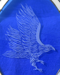 eagle art etched glass