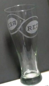 Cincinnati Reds pilsner glass.