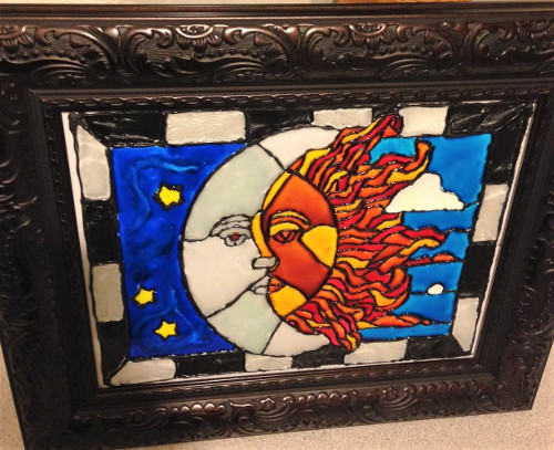 How to Make Faux Stained Glass with Crystal Paint on Picture Frames