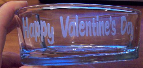 happy valentines day etching