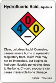 Hydrofluoric acid sign.