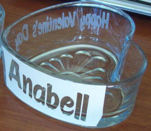 personalize etched name stencil