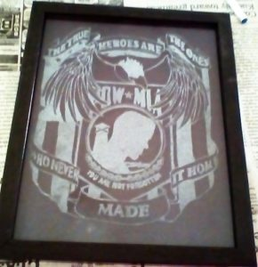 pow framed engraving