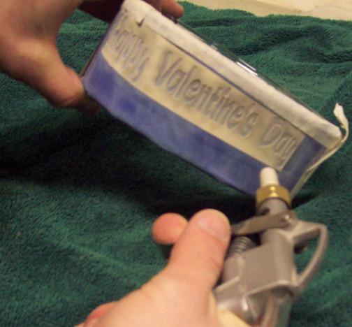 sandblasted valentines gift