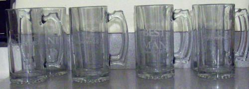 Set of wedding party mugs