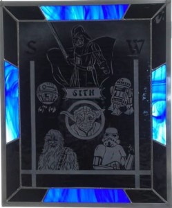 Star Wars etched glass