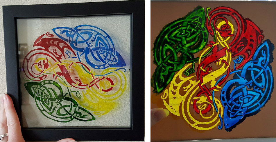 Glass painting with stencils by jade elizabeth for Glass painting templates